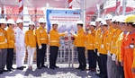 A ceremony to mark the first gas flow from Sao Vang Mine to Nam Con Son 2 pipeline