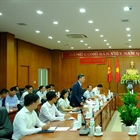 Secretary of the Ba Ria-Vung Tau Provincial Party Committee and Chairman of People's Committee meets PV GAS leaders