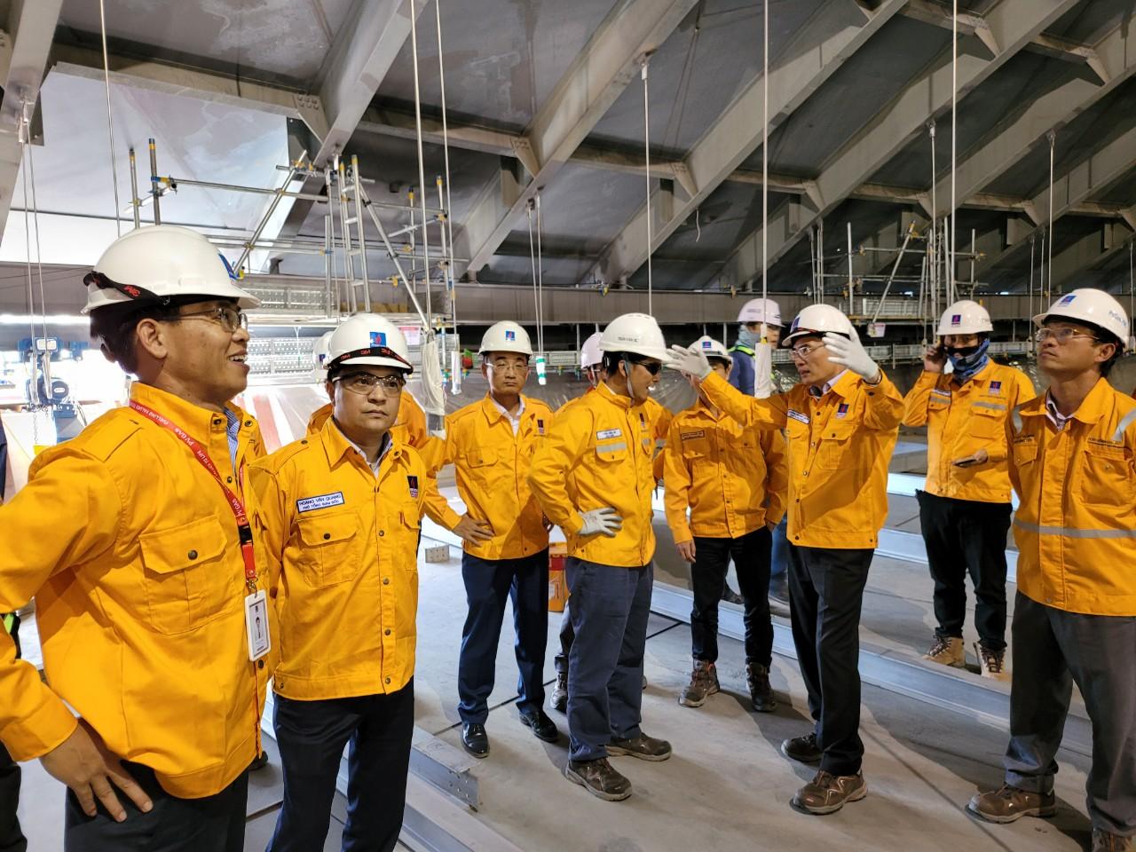 Lãnh đạo PV GAS thường xuyên kiểm tra công tác an toàn - tiến độ Dự án
