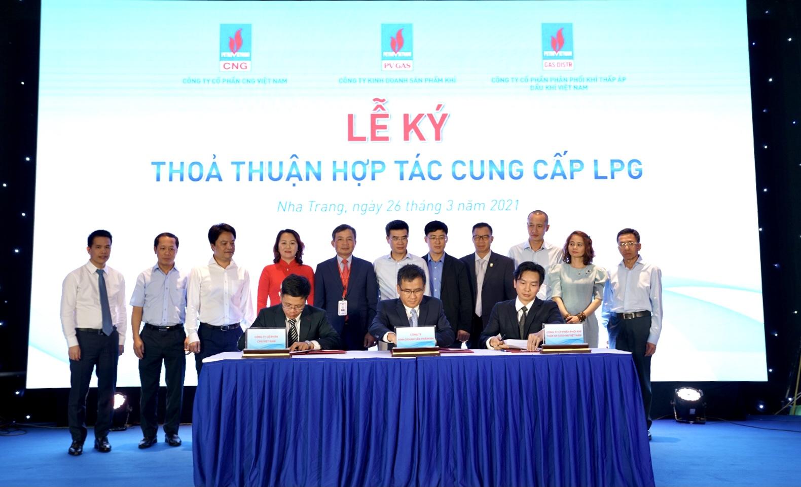 """Lễ ký kết """"Thỏa thuận hợp tác cung cấp LPG"""""""