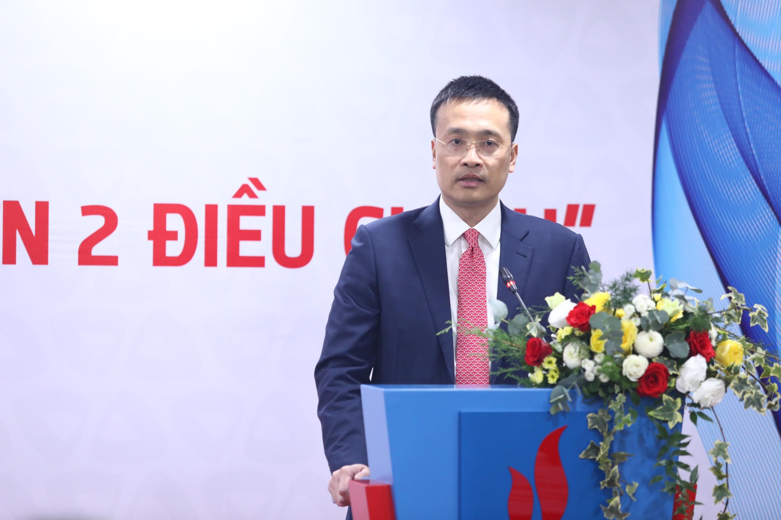 Phát biểu cảm ơn và chúc mừng của ông Phạm Quang Dũng, Ủy viên BCH Đảng bộ Khối DNTW, Phó Bí thư Đảng ủy, TGĐ Vietcombank