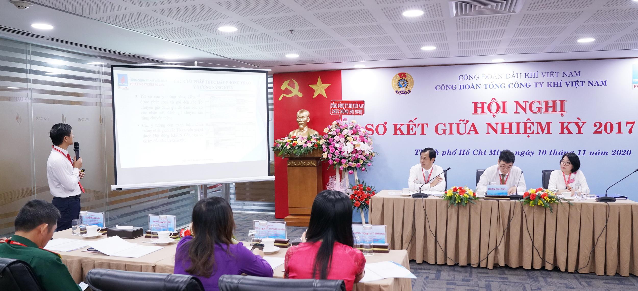 Đại diện Công đoàn KVT tham luận tại Hội nghị giữa nhiệm kỳ Công đoàn PV GAS
