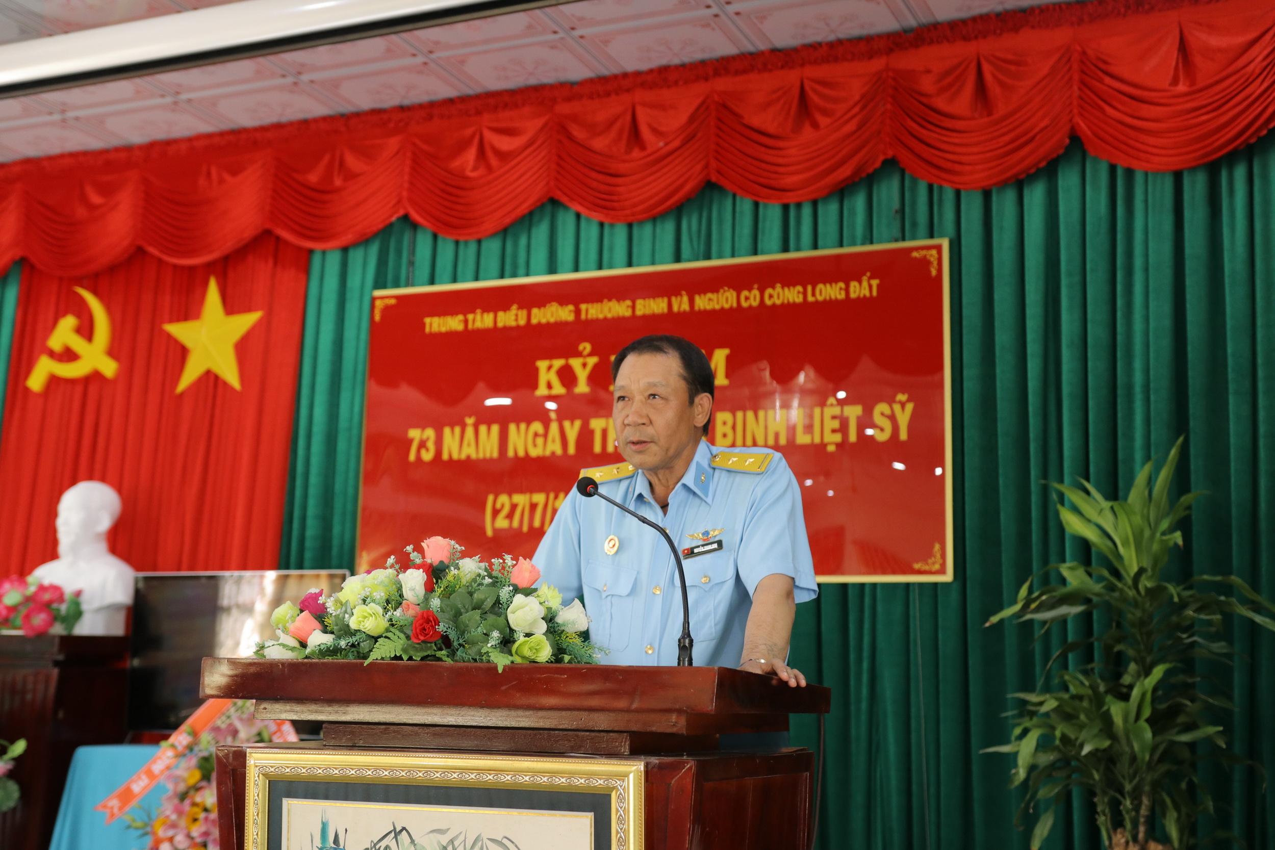 Chủ tịch Hội CCB PV GAS phát biểu tri ân nhân ngày 27/7