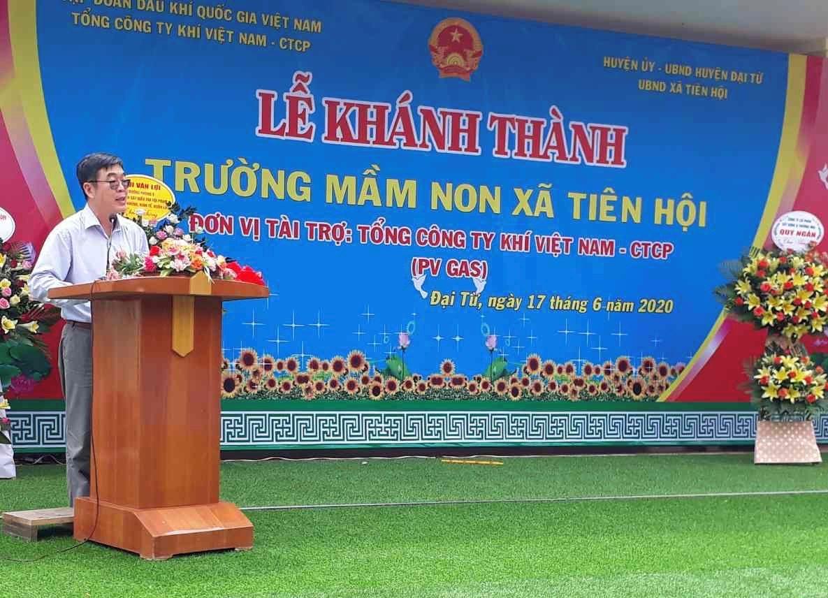 Phát biểu của đồng chí Nguyễn Văn Hùng - Chủ tịch Công đoàn PV GAS tại Lễ khánh thành