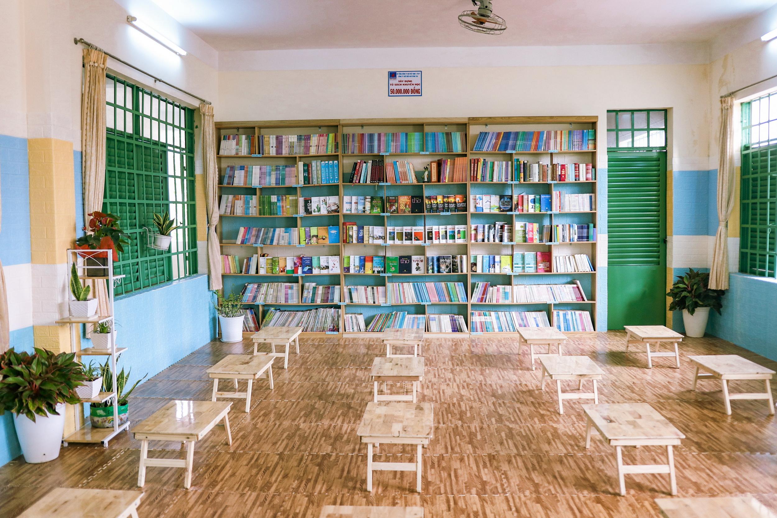 Không gian sạch đẹp dành tặng cho học sinh, khuyến khích văn hóa đọc