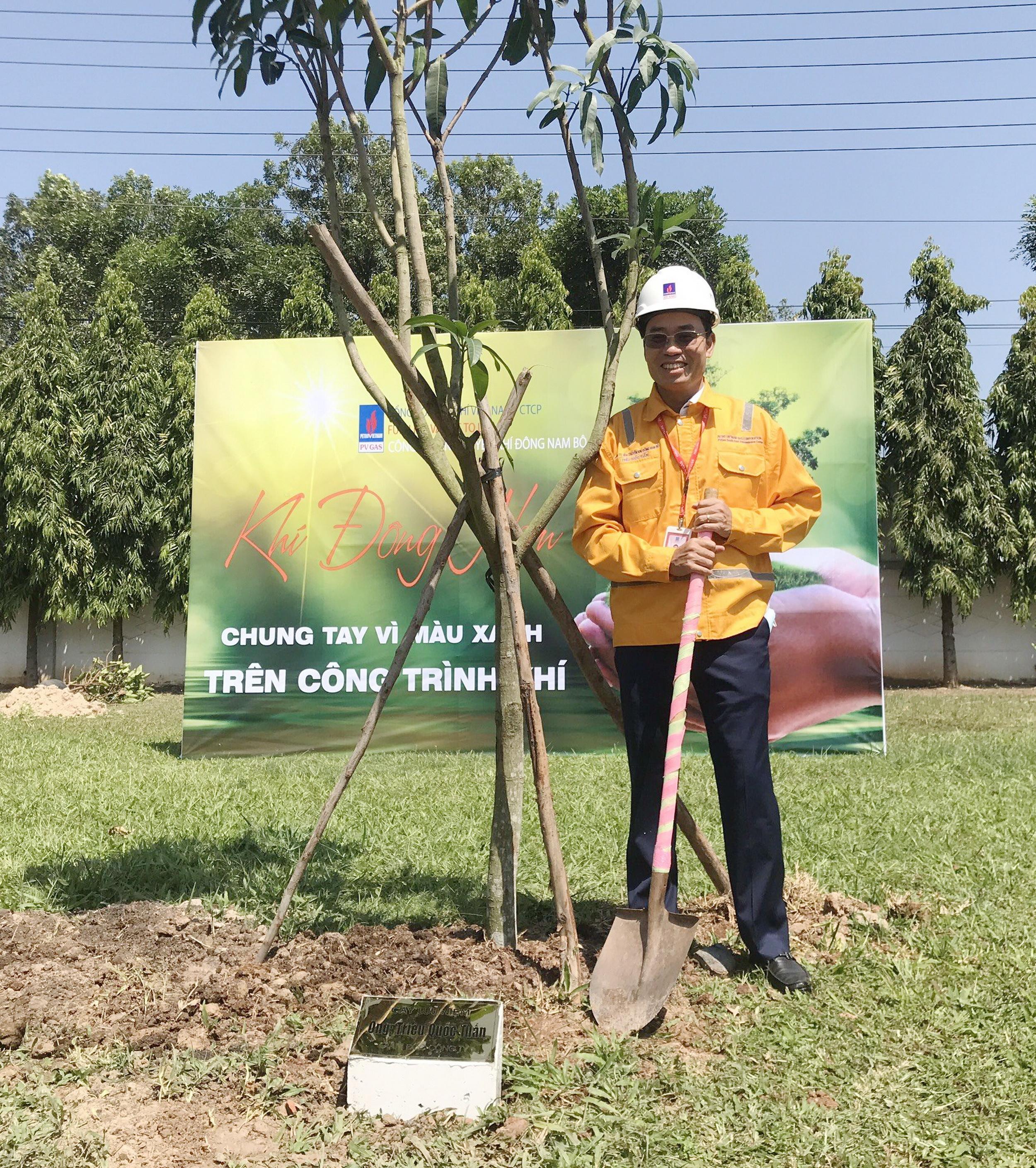Giám đốc KĐN Triệu Quốc Tuấn kêu gọi tinh thần bảo vệ môi trường của toàn thể CBCNV KĐN