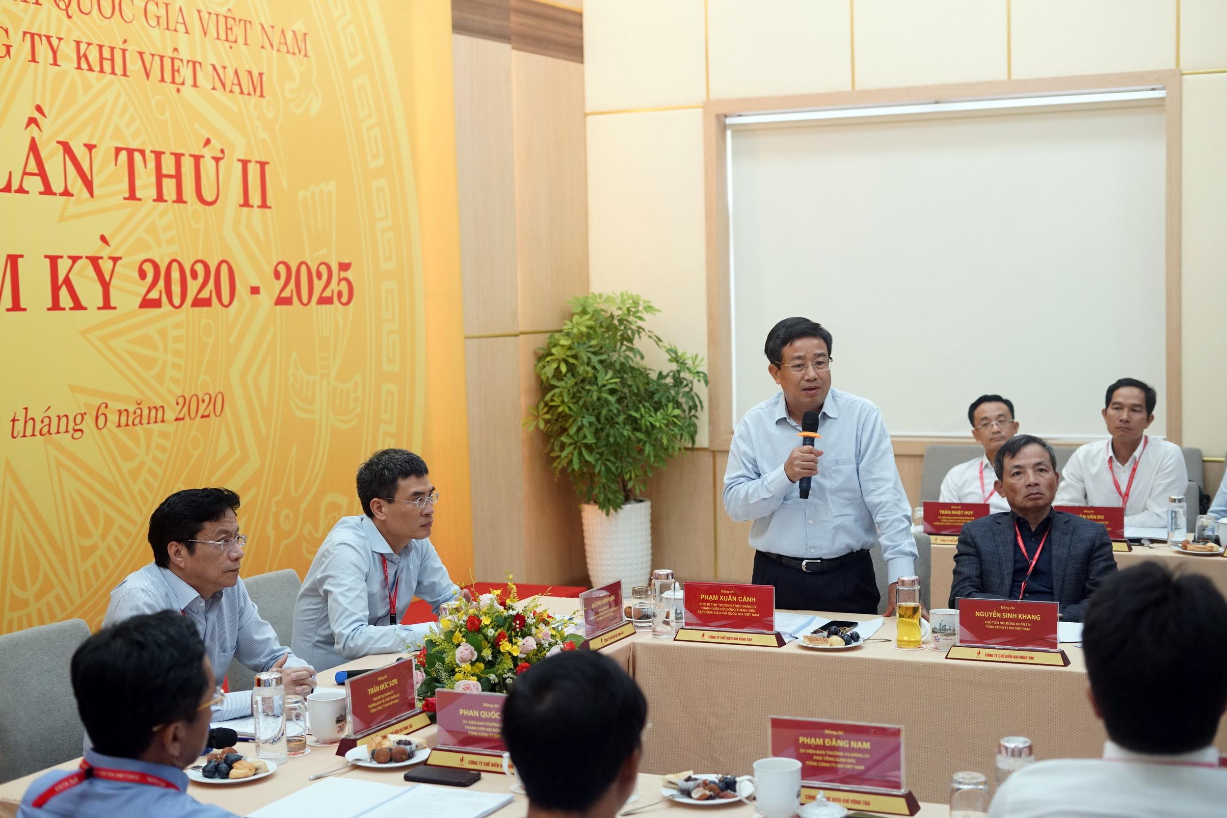 Phát biểu chỉ đạo của  đồng chí Phạm Xuân Cảnh – Phó Bí thư Thường trực Đảng ủy, thành viên HĐTV Tập đoàn Dầu khí Việt Nam.