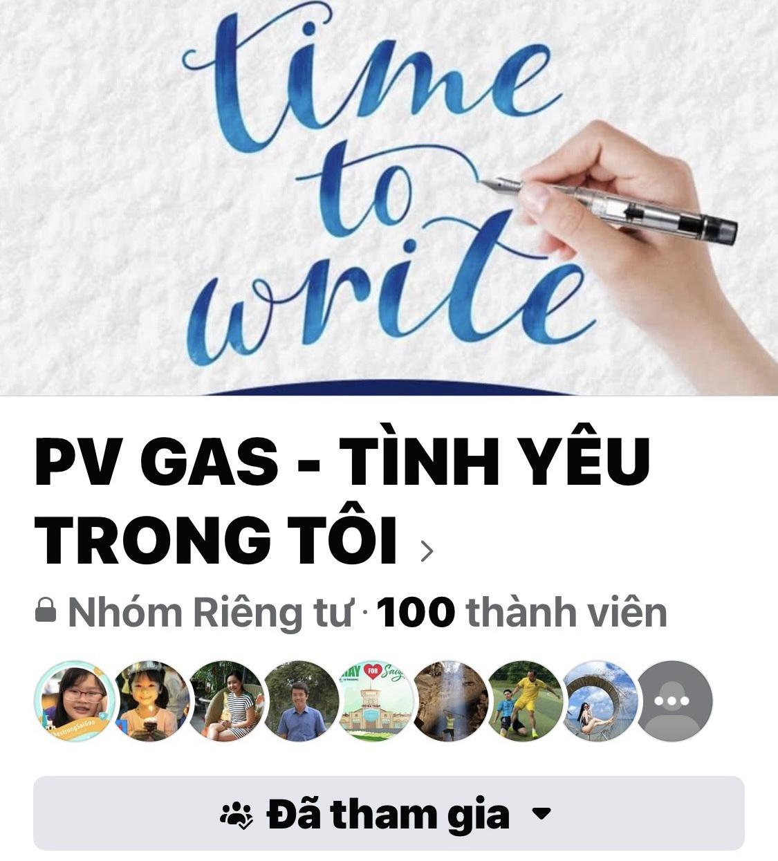 """Giao diện Cuộc thi """"PV GAS - Tình yêu trong tôi"""" trên fanpage của Công đoàn CQĐH PV GAS"""