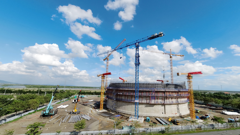Công trình Kho LNG Thị Vải đang trong giai đoạn xây dựng