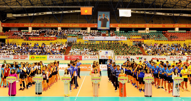 Quang cảnh Lễ Khai mạc Giải bóng chuyền PV GAS 2019