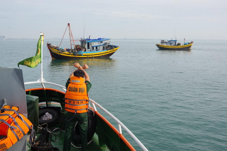 Một chuyến đi tuần tra, hướng dẫn ngư dân của KĐN