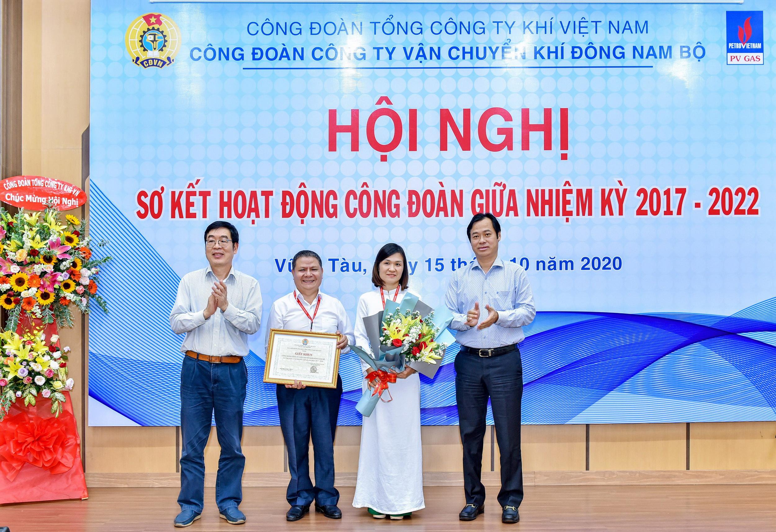 Công đoàn PV GAS khen thưởng tập thể Công đoàn KĐN vì thành tích xuất sắc trong giai đoạn 2017 – 2020