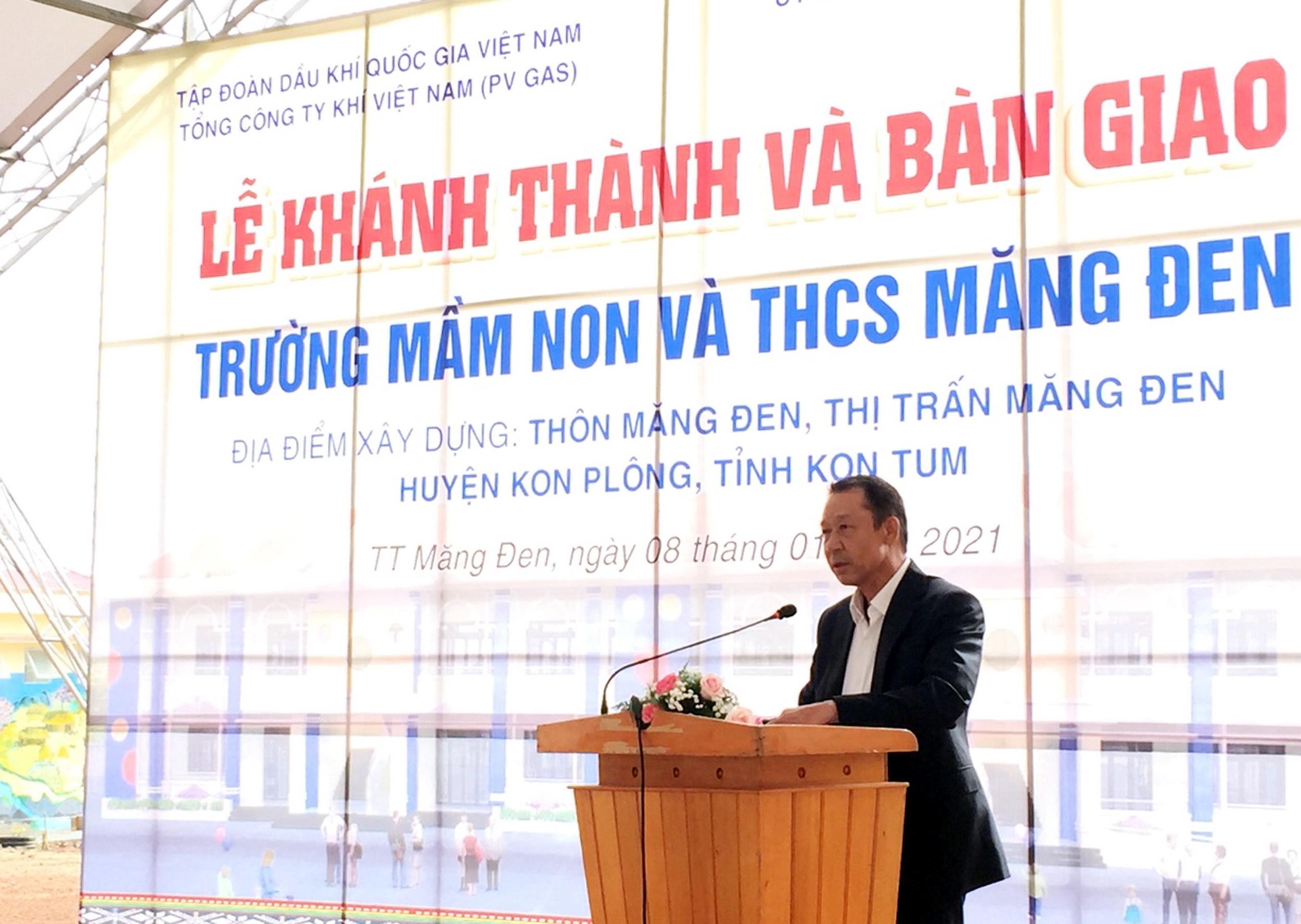 Phát biểu của lãnh đạo đơn vị tài trợ công trình: PTGĐ PV GAS Nguyễn Thanh Nghị