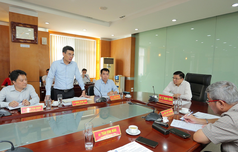 TGĐ PV GAS Dương Mạnh Sơn phát biểu tại buổi làm việc