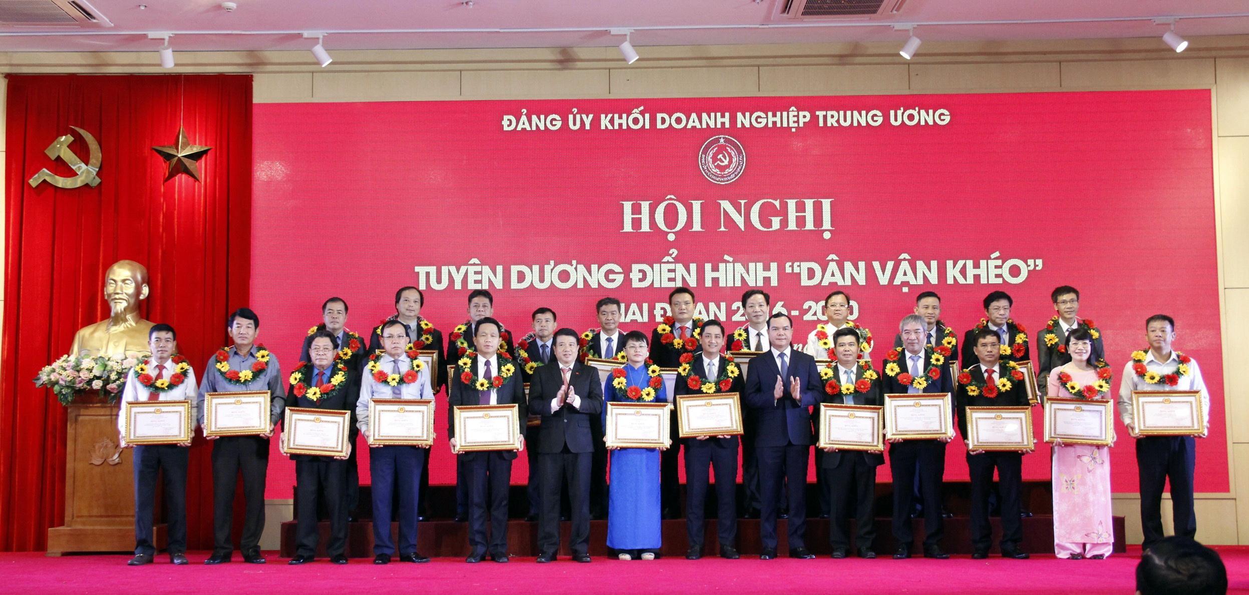 Đảng ủy Khối Doanh nghiệp Trung ương tuyên dương các tập thể đã có thành tích xuất sắc trong công tác dân vận giai đoạn 2016-2020