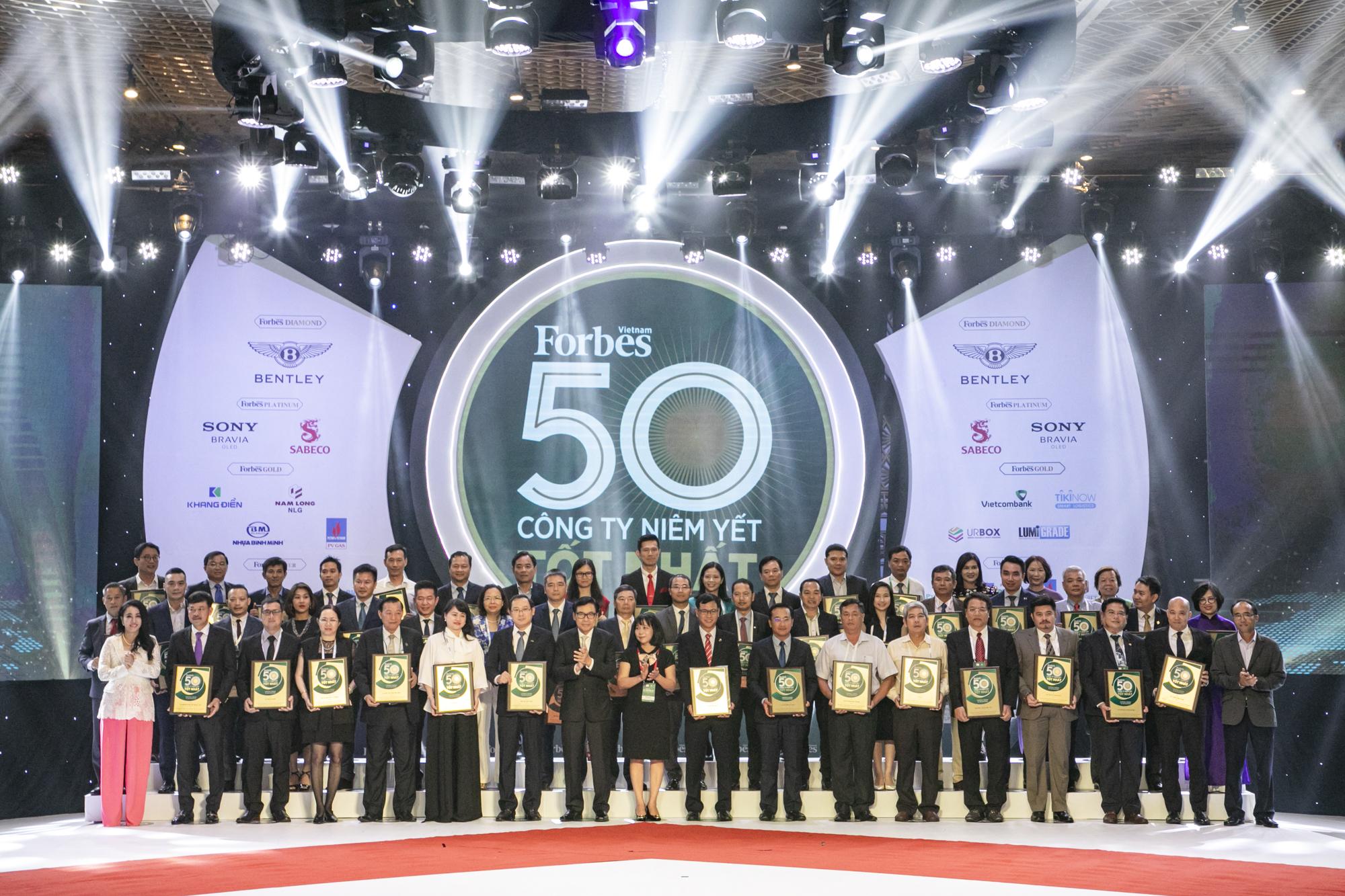 Lễ trao giải 50 công ty niêm yết tốt nhất Việt Nam – 2019 của Forbes Việt Nam