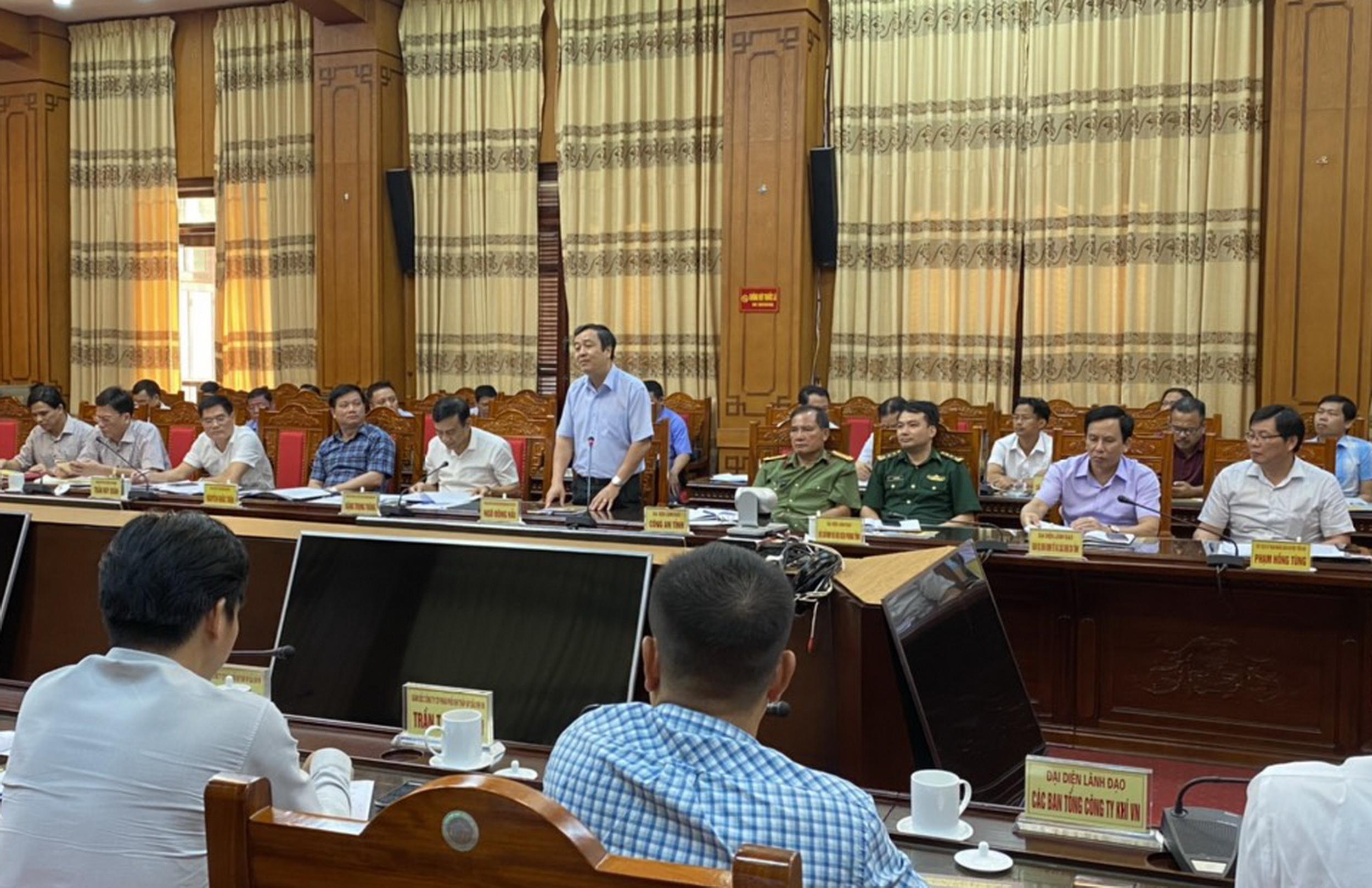 Phát biểu chào mừng đoàn cán bộ cao cấp PV GAS đến thăm và làm việc của Bí thư Tỉnh ủy tỉnh Thái Bình