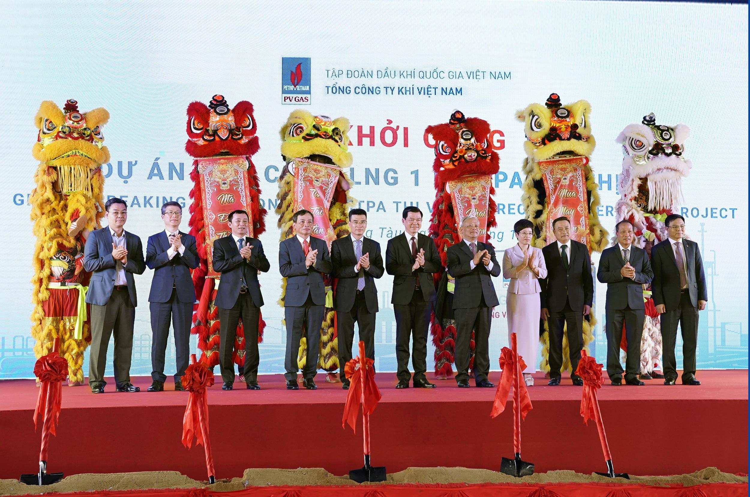 Hình ảnh khởi công Dự án Kho cảng LNG Thị Vải