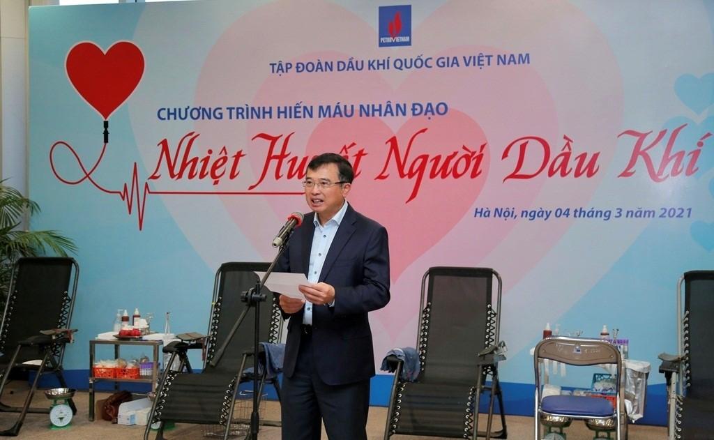 Chủ tịch HĐTV Petrovietnam Hoàng Quốc Vượng phát biểu khai mạc chương trình