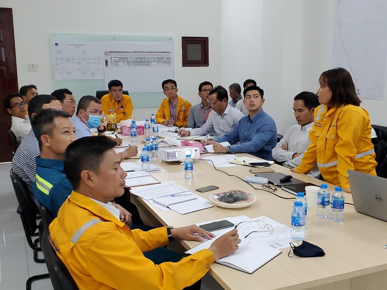 Cuộc họp kiểm tra diễn tra tại công trình 2 dự án trọng điểm