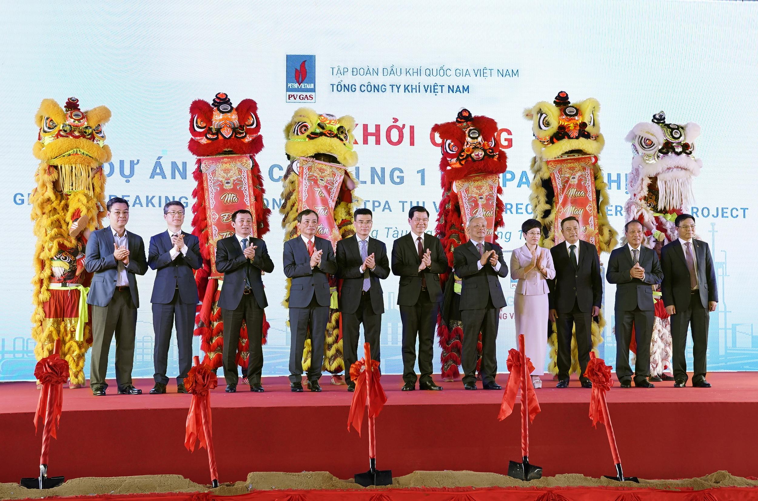 Lễ khởi công Dự án kho cảng LNG Thị Vải vào năm 2019