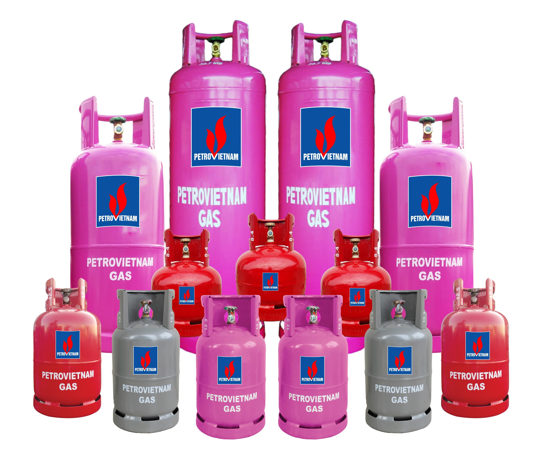 Một số sản phẩm bình gas Petrovietnam Gas của PVGAS LPG