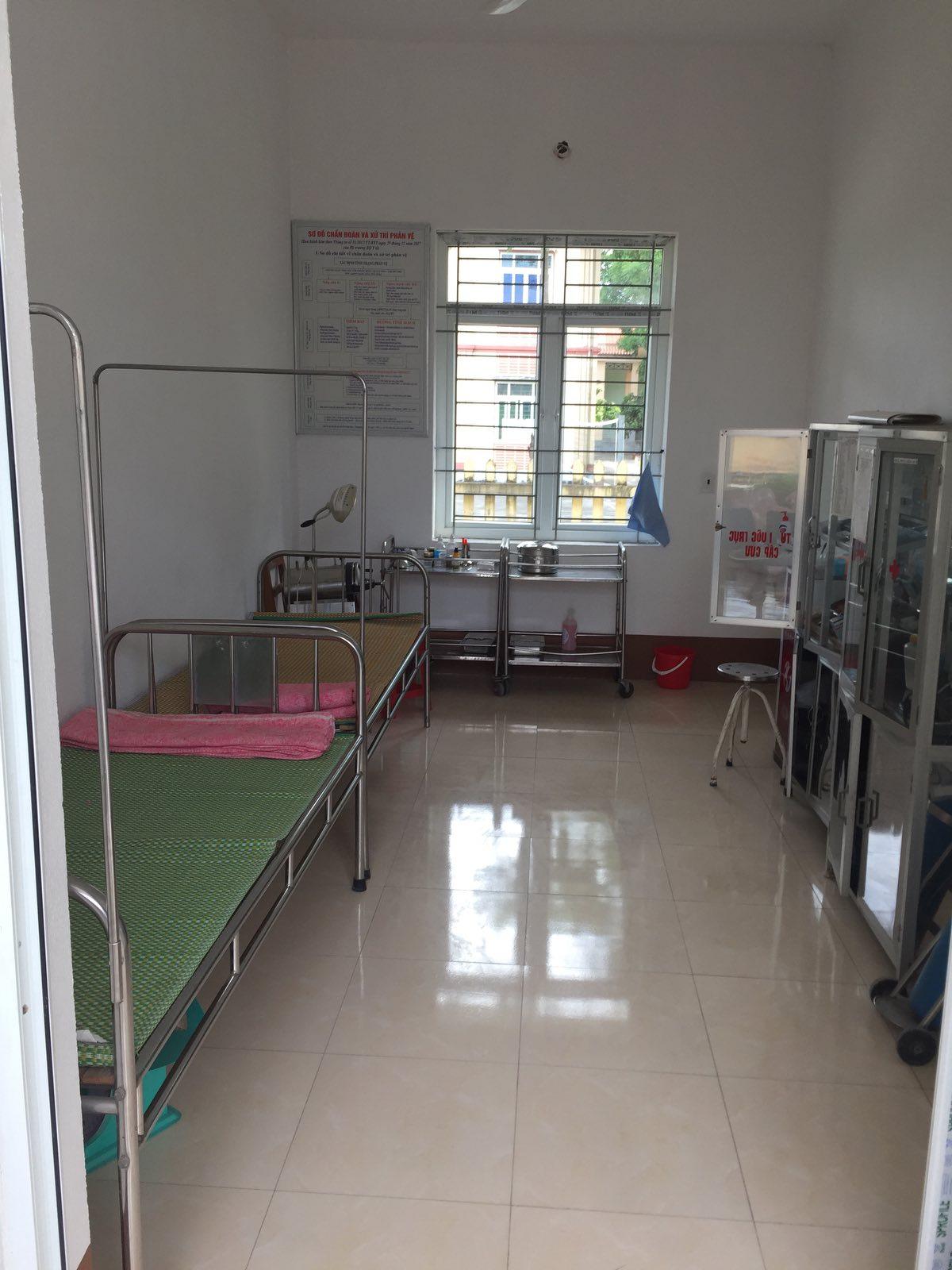Một phòng dành cho người bệnh của Trạm xá mới